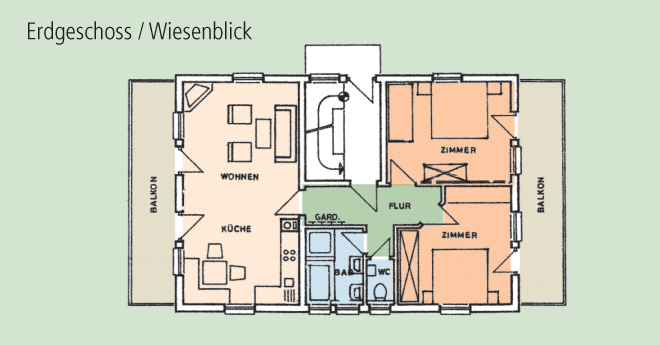 Bildslider: Wohnung EG - Grundriss