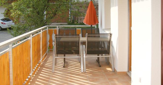Bildslider: Wohnung EG - Balkon